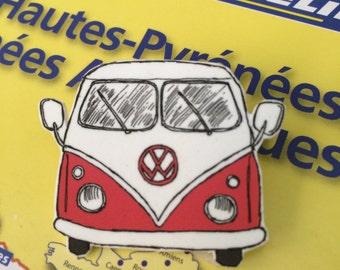 Retro Campervan  Badge