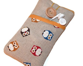 iPhone 7 case owls, iPhone SE pouch , iPhone 5 purse, iPhone 6s Plus case,  iPhone 7 Plus sleeve, iPod Touch 6g sleeve, owls iphone cover