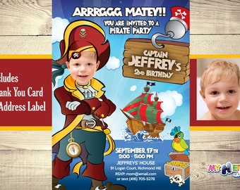 Pirate Birthday Invitation. Pirate Invitation with your son as the Pirate! Pirate Party Ideas. Pirate Birthday Party. Mi kid loves Pirates.