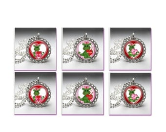 Party Birthday Party Favors Valentine Dragons Bottle Cap Necklace Birthday Party Favors Valentines Day Party (1603)