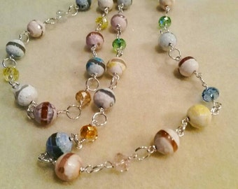 Very pretty Spring agate necklace