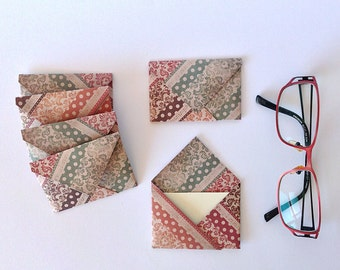 "24 mini Envelopes, vintage pattern - incl.inserts, 3""x2"""