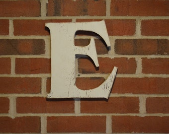 """Wooden Letter Small 24"""" h Rustic Letter Wooden Wall Sign Primitive Distressed Cottage Chic"""