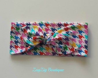 Bright wide headband in organic cotton jersey.  Toddler, 2-3 yrs.