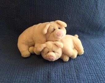 Vintage Lou Rankin Friends Pig/Plush Pig Friends
