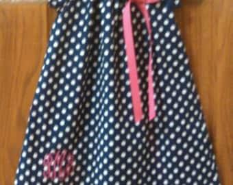 Monogrammed Peasant Dress for Baby/Toddler/Girl, Valentine Dress, Spring Dress, Easter Dress, Summer Dress. Back to School