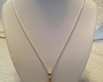 Silver necklace with quartz pendant