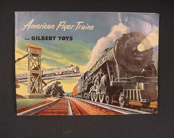 Vintage Old Collectible * American Flyer Trains * 1952 Catalog* Gilbert *