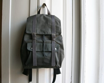 Man Backpack, books Bag Man Luggage Sack Pack Leather