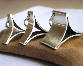 Silver Nekclace, Triangle Necklace, Fine Silver Necklace, Geometric Necklace, Handmade Necklace, Minimalist Necklace, Geometric Triangle