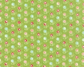 SALE!! 1 Yard Vintage Picnic by Bonnie and Camille for Moda Floral Rosie- 55121-14 Green