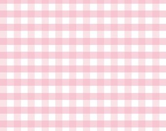 1 Yard Double Gauze by Riley Blake Designers for Riley Blake Designs G588-Pink Gingham