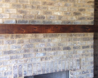 Fireplace Mantel / Rustic Mantle / wall shelf / beam mantle /