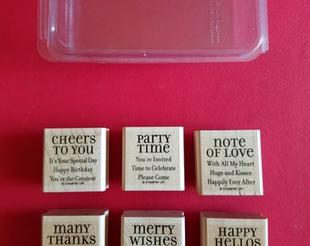 "Retired, Used Stampin' Up ""Lots of Thoughts"""