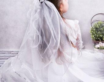 Communion wreath with a veil-communion wreath-communion veil with lace