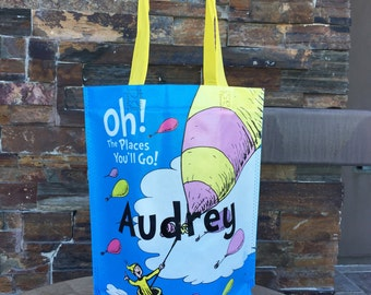 Custom Dr Seuss Oh! The Places You'll Go! Tote Bag