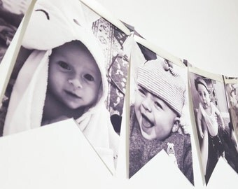 Newborn to 11 Months 1st Birthday Party Photo Banner Garland