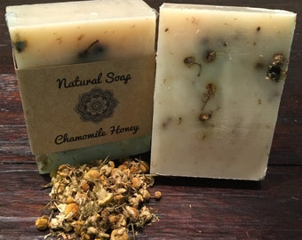 Handcrafted Cold Process Chamomile Soap