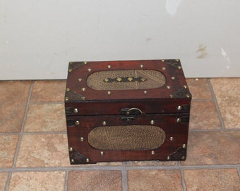 Small Chest with Croc Pattern