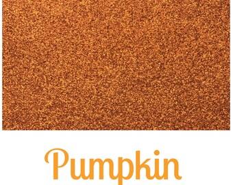 Fine Glitter Fabric - Pumpkin