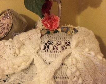 Vintage crochet  wrap/shawl