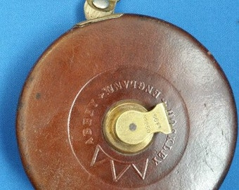 Vintage Tape Measure in Leather Case