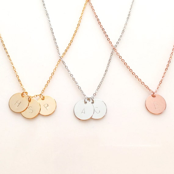 gold initial necklace custom name necklace by