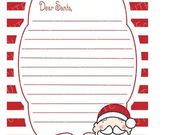SALE Christmas Wishlist Digital Printable Santa Letter Kids Xmas List PDF  JPG  Printable Santa Wish List