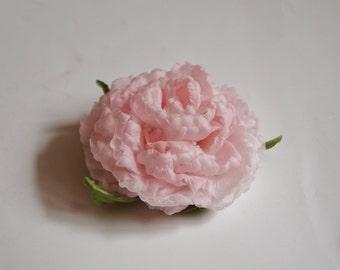 "Silk flower  hairclip/brooch ""Peony"""