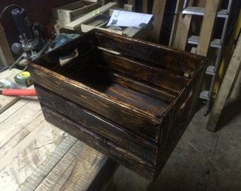 Dark rustic crate