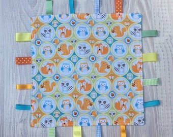 Foxes and Owls Tag Comfort Baby Blanket