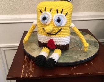 Crocheted Sponge Bob