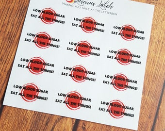 Diabetic Hypoglycaemia Event Stickers | Diabetes| Planner Stickers