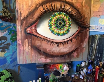 Eyes | Painting | Kaleidoscope Eyes | Wall Art |