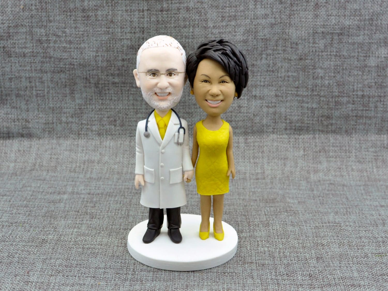 Unique wedding cake topper bride and groom anniversary funny