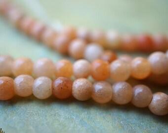 Creamy Aventurine, 3-4mm Aventurine Beads, Beads, N1874