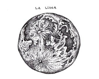 La Luna A5 Art Print