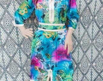 colorful caftan, colorful kaftan, colorful dress, resortwear, loungewear, morrocan caftan, berber dress,oriental dress, oriental kaftan.