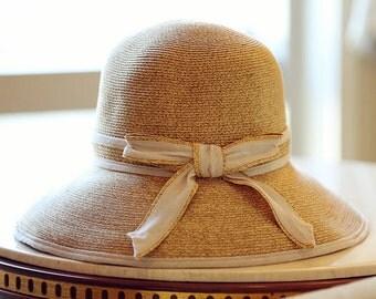 Women's summer straw hat-Straw Hat -sun hat Bowler hat