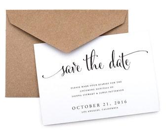 Printable Save the Date- Digital Files