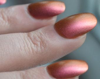Pink-Gold Flip - Handmade Indie Nail Polish - by Vuuxi Nail Lacquer