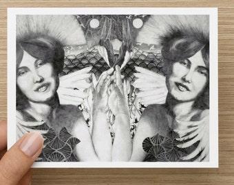 Crane Twins - Post Card