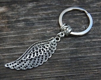 Angel's Wing Keychain,Angel's Wing Keyring,Protection Keyring,Pray Keychain,Handmade Keychain,Man,Woman,Gift,Pray