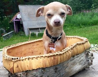 Alaska Birch Bark Basket