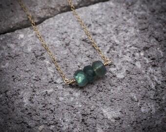 Labradorite necklace, labradorite jewelry, gemstone necklace, dainty necklace, bar necklace, natural stone necklace, simple necklace.
