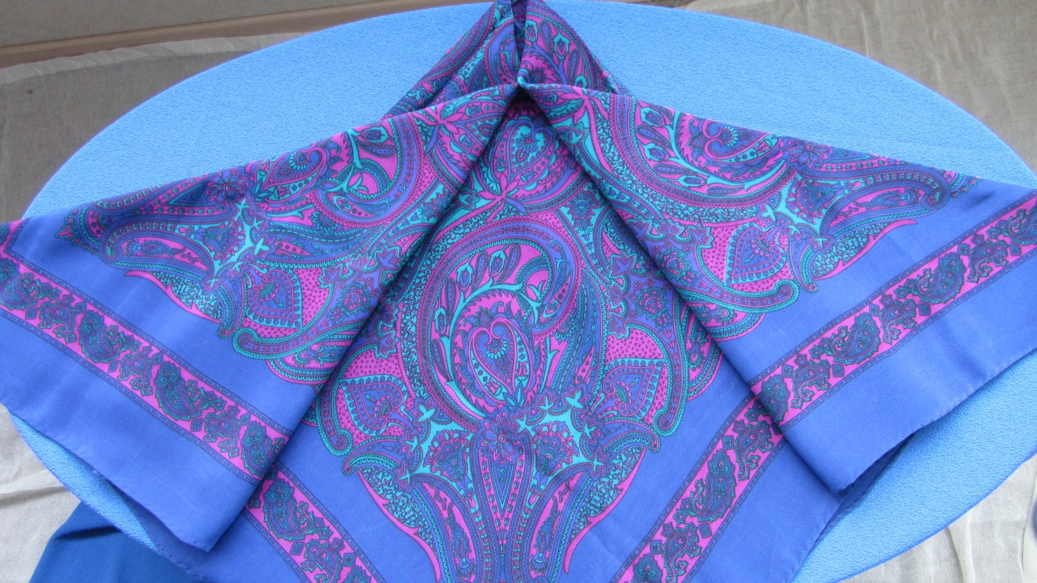 Purple Vintage shawl wrap, Ornaments silk shawl, Violet silk Spring shawl, Head