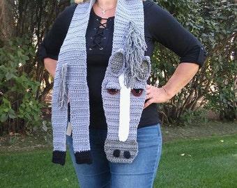 Crochet Custom Horse Scarf