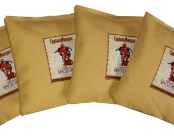 HUGE SALE Captain Morgan Buttercup Cornhole Bean Bags Money Back Guarantee