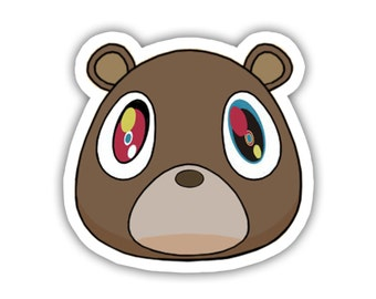 Kanye West Bear Vinyl Decal Sticker