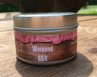 BBQ, Father's Day Gift, Soy Candle,  Dad Gift, Husband Gift, Boyfriend Gift, Man Candle, Gift for Him, Father's Day